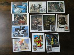 """242 Cartes Maximum FDC """"tableaux, Musée Imaginaire"""" Jusqu'en 1999  Rarement Proposé Voir  Scans Et Commentaire - Other"""