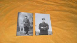 LOT 2 CARTES POSTALES PHOTOS NON CIRCULEES ANCIENNES DATE ?../ PORTRAIT MILITAIRE COL CHIFFRE 3.. - Guerra 1914-18