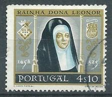 Portugal YT N°856 Reine Dona Leonor Oblitéré ° - Gebruikt
