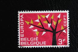 1962, BELGIQUE EUROPA  Y&T NO 1222 3F  ROUGE VERT-JAUNE ET NOIR  OBLITERE ... - Oblitérés