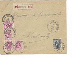 SH 0790. N° 279-286(4) St LEGER (LUXEMB.) 2.II.1931 S/Lettre RECOMMANDEE Vers Chantenelle. TB Affr. - Cartas