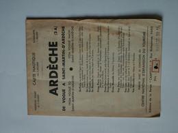 Carte Nautique 1/50 000 - ARDECHE - De Vogué à St-Martin-d'Ardèche - Canoé Kayak - Carte Topografiche