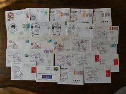 Thème Vélo, Cyclisme, Courses. 24 Lettres Avec Flammes Et Illustrations Thème :tour De France Années 90 - Cycling