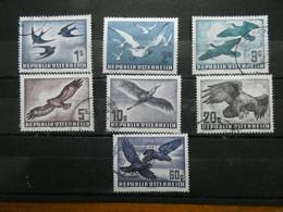 AUTRICHE Poste Aérienne  N° 54 à 60 Oblitérés Cote 370 € - Airmail
