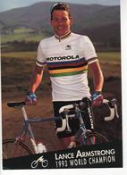 LANCE AMSTRONG  CHAMPION DU MONDE 1993 MOTOROLA FORMAT 12.5 X18 CMS - Cycling