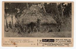 CPA Publicité Café Calédonien Jouve Nouvelle Calédonie Famille Canaque Employée Sur Les Plantations N°19 - Nouvelle Calédonie