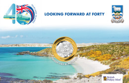 Falkland Islands £2 Coin Sun & Islands Uncirculated 2004 - Falkland Islands