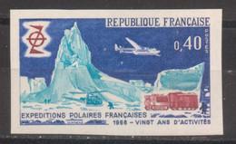 Expéditions Polaires YT 1574 De 1968 Essai De Couleur Multi Sans Trace Charnière Cote 175 € - Ongetand
