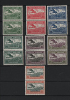 ALBANIA 1925 FLUGPOST ONE COMPL.MINT SET IN PAIR OF TWO - Albania