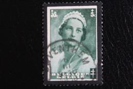 1935, BELGIQUE   Y&T NO 413 35C +5C VERT MORT DE LA REINE ASTRID OBLITERE ... - Used Stamps