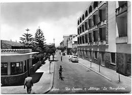 "Alghero (Sassari). Via Sassari E Albergo ""La Margherita"". Auto, Car, Voitures. - Sassari"