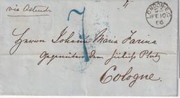 GRANDE-BRETAGNE LETTRE DE LONDON POUR COLOGNE AVEC CACHET TRANSIT - ...-1840 Vorläufer