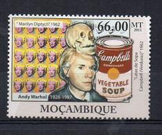 POP ART. Andy Warhol - (Mozambique 2011) MNH (2W02107) - Ohne Zuordnung