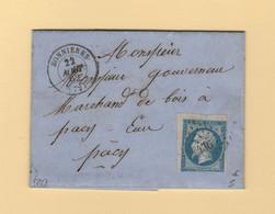 Bonnieres - 72 - Seine Et Oise - Pc 436 - 22 Aout 1862 - 1849-1876: Classic Period