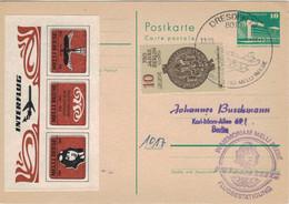 Ganzsache Dresden 1986 - Melli Beese Erste Frau Mit Privatpilotenschein > Berlin Interflug - Postales - Usados