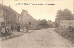 BAILLY-ROMAINVILLIERS - Route De Paris - (Éditeur Martincourt, Phot., N° 4 - Imp. E. Le Deley) - Cachet 260è Territorial - Andere Gemeenten