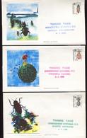 France  6 Env. 1er Jour Insectes - 1980-1989