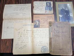 France Roubaix WW1 / Militaria Lot De Documents MANTAELT Joseph ( Classe 1904) - Documents