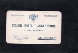 GRENOBLE - GRAND HOTEL D'ANGLETERRE - Place Victor Hugo - Victor ALIX  Propriétaire - Note D'hôtel - Zonder Classificatie