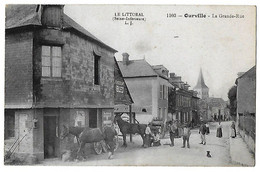 OURVILLE En CAUX   La Grande Rue   (recto-verso) - Ourville En Caux