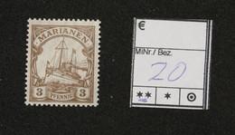 Nr. 20 Marianen Postfrisch - Colonia:  Isole Marianne