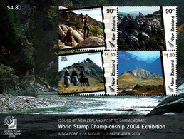 """New Zealand, 2004, Int. Stamp Exhibition """"World Stamp Championship Singapore 2004""""-The Lord Of The Rings, Block 174, MNH - Cinema"""