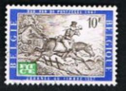 BELGIO (BELGIUM)   -   SG 2021 -  1967 EUROPEAN TELECOMMUNICATIONS YEAR: POSTMAN ON HORSE   - USED - Oblitérés