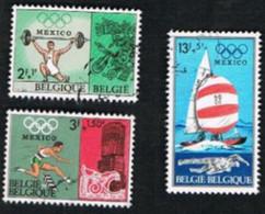 BELGIO (BELGIUM)   -   SG 2079.2082 -  1968  OLYMPIC GAMES   - USED - Oblitérés