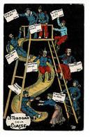 Carte Illustrée - Le Tobogan De La Classe ( Décompte Des Jours Restants Avant La Quille) Cà Colle Encore 496 Jours - Cir - Humor