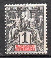 Col19  Madagascar N° 28 Neuf X MH Cote 1,50€ - Nuovi