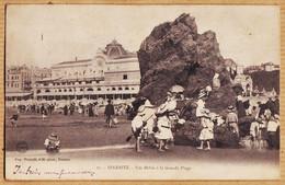 X64405 BIARRITZ Euskadi Nos Bébés à La Grande Plage 1903 à BOUSQUET 30 Avenue Des Minimes Toulouse-PACAULT 11 - Biarritz