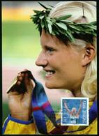 Mk Sweden Maximum Card 2012 MiNr 2885 Post Paid   Carolina KIüft (heptathlon Gold Medalist, 2004 Olympic Games, Athens) - Cartoline Maximum