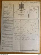 60319 - Télégramme Du Havre Pour Paris Vers 1860 - Zonder Classificatie