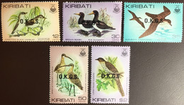 Kiribati 1982 Birds Official Set MNH - Ohne Zuordnung