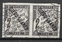 Yvert Paire Taxe 4 - Used Stamps