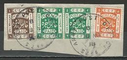 Palestine SG 5, 6, 9, Mi 4, 5, 8 O Used Army Post Office - Palestina