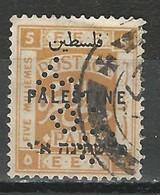 Palestine SG 75, Mi 41 O Used Perfin - Palestina