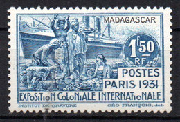 Col19  Madagascar N° 182  Neuf X MH Cote 4,50€ - Neufs