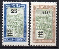 Col19  Madagascar N° 188 & 189  Neuf X MH Cote 2,00€ - Nuovi