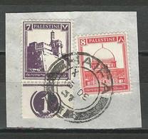 Palestine SG 105, 106, Mi 59, 61 O Used Haifa - Palestina