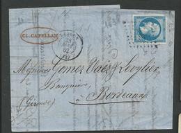 Girondes , Langon , P C 1638 Cachet T 15 Du 23 Mai 1862 - 1849-1876: Periodo Classico
