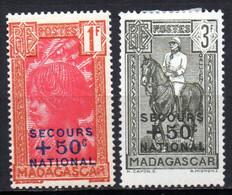 Col19  Madagascar N° 232 & 233  Neuf X MH Cote 1,00€ - Nuovi