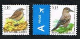 BELGIO (BELGIUM)   -   SG 3694d.3695  -  2008 BIRDS  - USED - Gebraucht