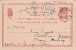 DANEMARK 1891   ENTIER POSTAL/GANZSACHE/POSTAL STATIONARY CARTE DE AALBORG - Postal Stationery