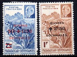 Col19  Madagascar N° 284 & 285 Neuf X MH Cote 2,00€ - Nuovi