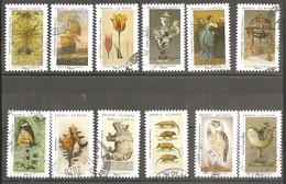 FRANCE 2020 Y T N ° 1827/1838 Série Complète Oblitérée Cachet Rond Un Cabinet De Curiosités - Adhesive Stamps