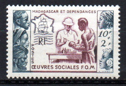 Col19  Madagascar N° 320 Neuf X MH Cote 8,00€ - Unused Stamps