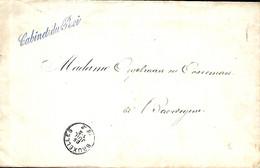 Belgique. L. Franchise Cabinet Du Roi Bruxelles > Baardegem Via Moorsel  25/7/1882 - Franchigia