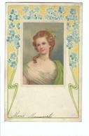Vrouw  Begin 1900 Art Nouveau  TANNENZWEIG - Women