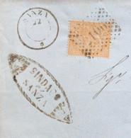 CAMPANIA - SANZA 22 MAG 76  D.c.+ Punti Su 10 C. + TIMBRO COMUNALE   - PIEGO  PER SALERNO CON TIMBRI AL RETRO - Marcophilie